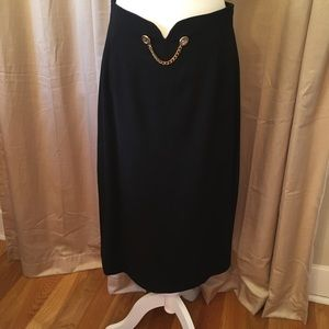 Louis Feraud  Vintage black skirt